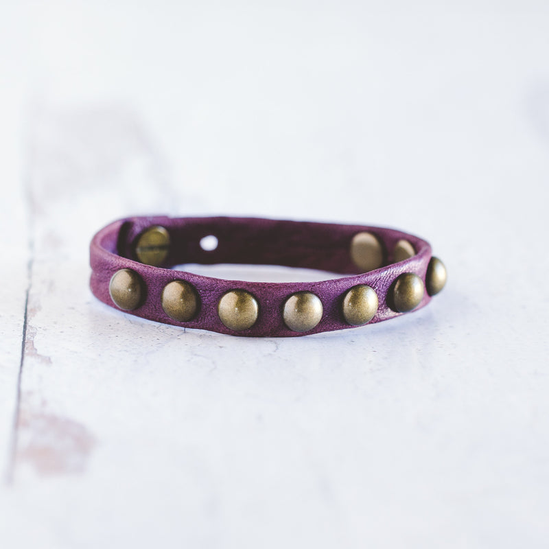Dotty Bracelet  - Antique Brass