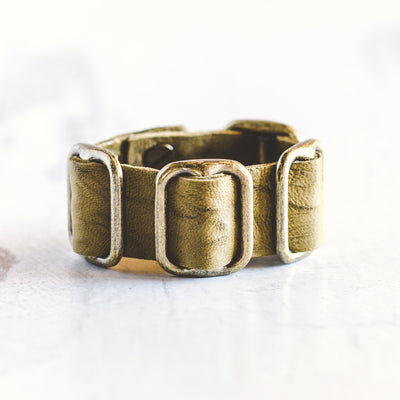 Fancy Cuff Bracelet - Antique Brass