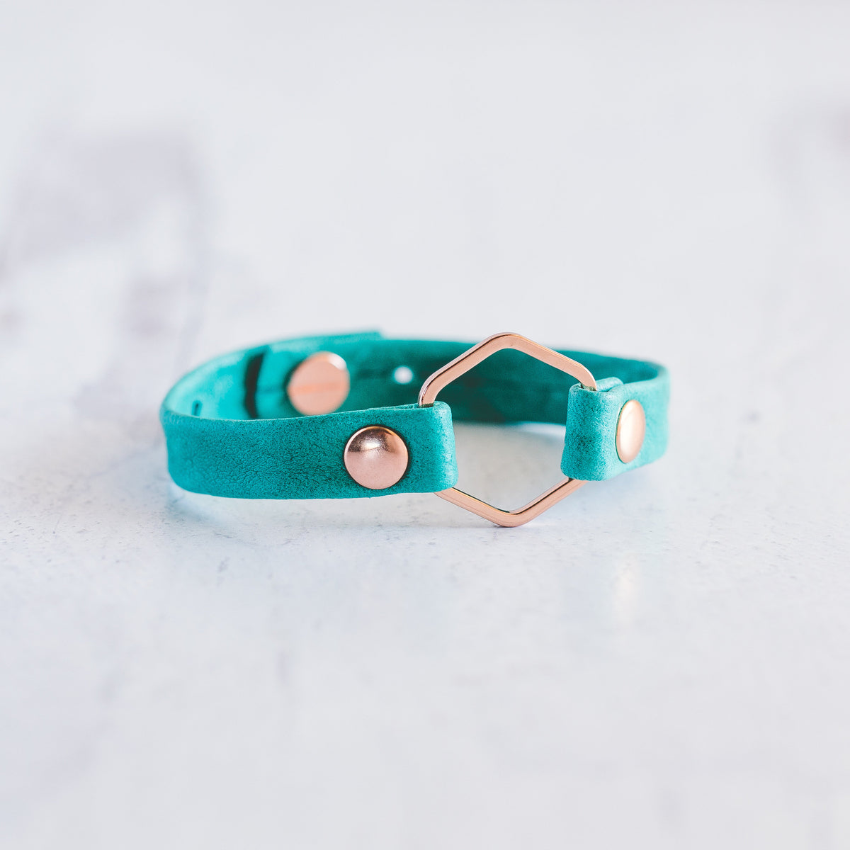 Honeycomb Bracelet-Rose Gold