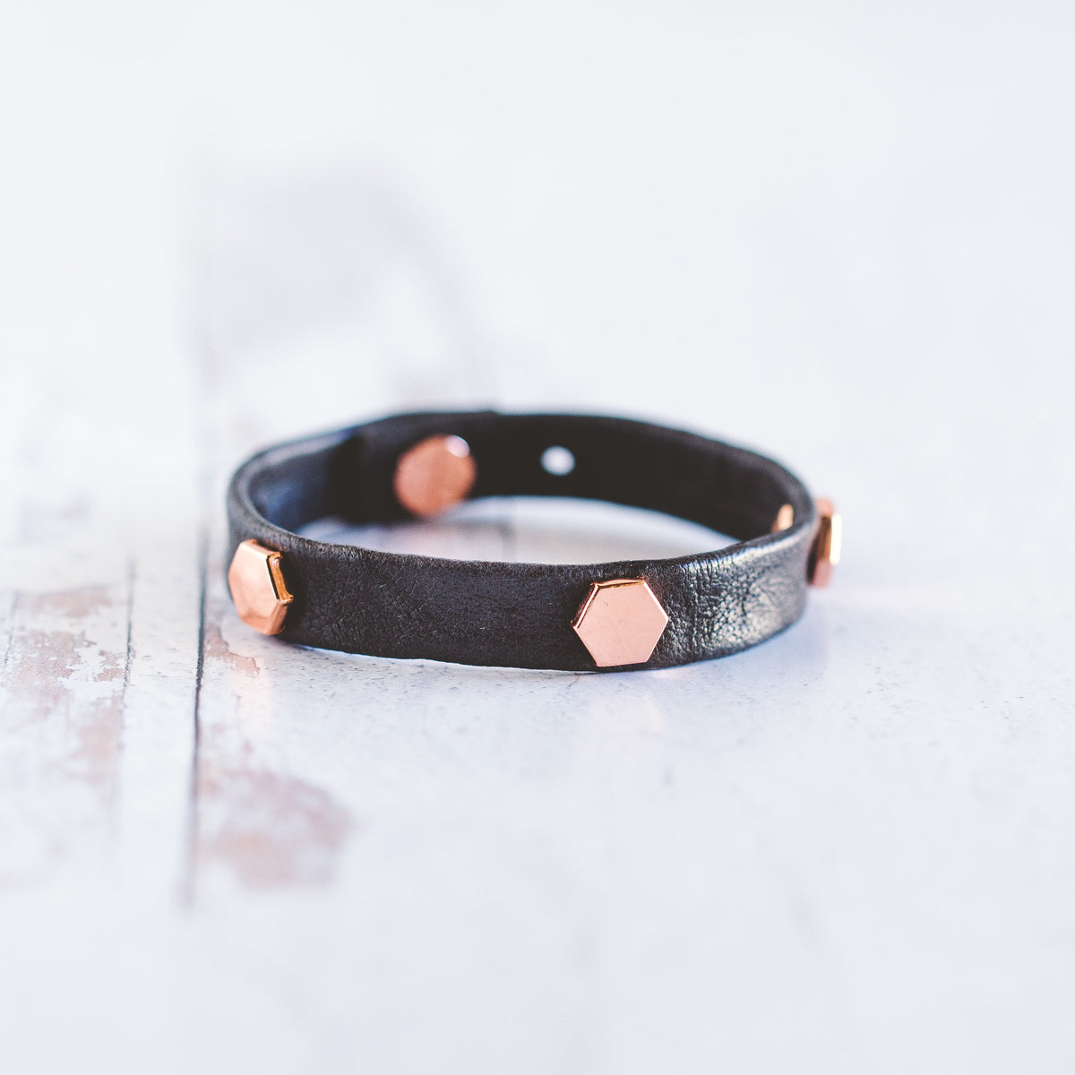 Honeycomb Stacker - Rose Gold