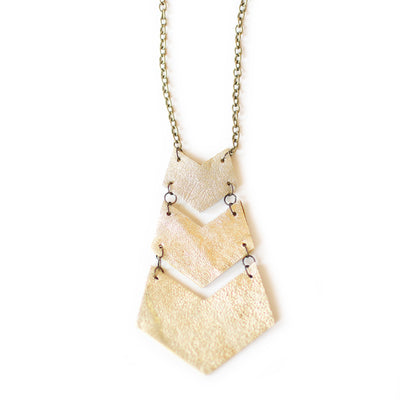 Chevron Necklace-Antique Brass Chain