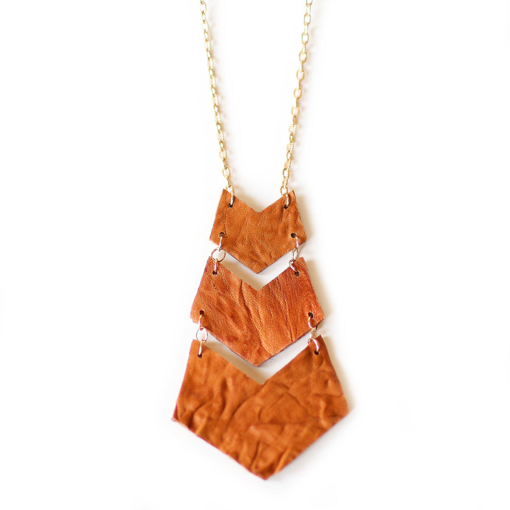 Chevron Necklace - Gold Chain