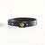 Plain Leather Bracelet Band  - Antique Brass