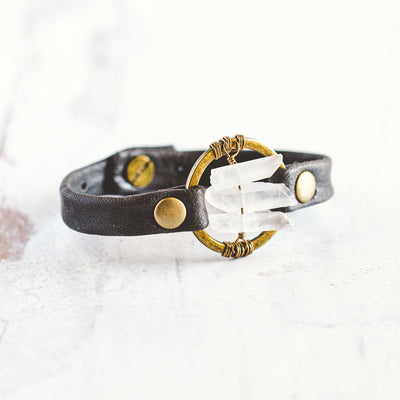 Be the Light Bracelet - Antique Brass