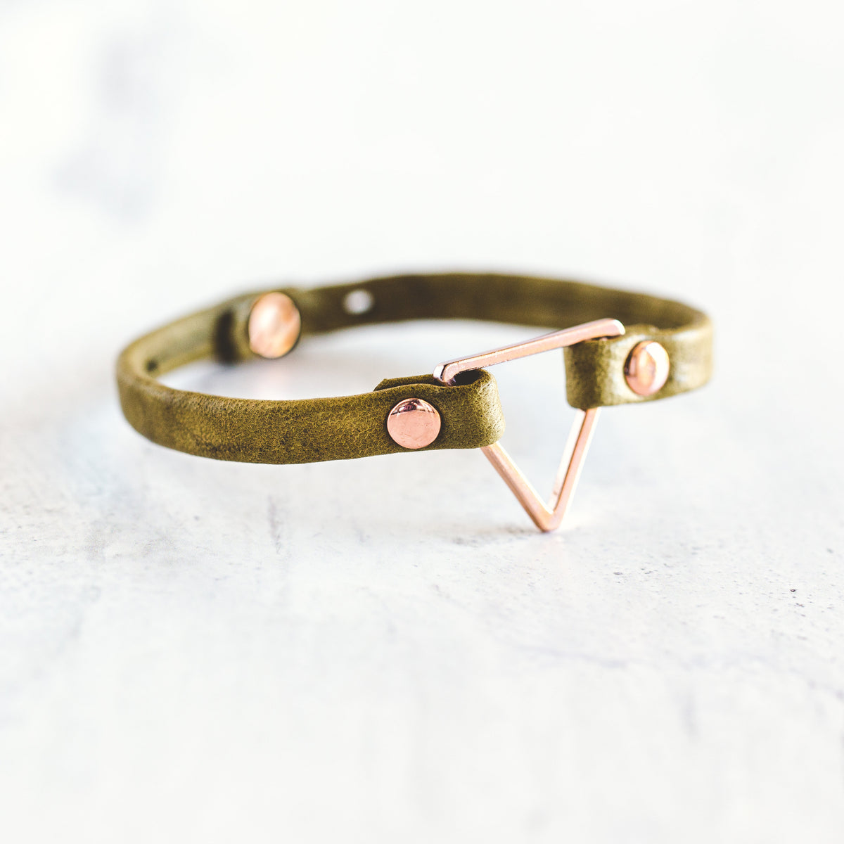 Triangle Bracelet-Rose Gold
