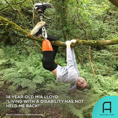 14 year old adaptive athlete Mia Lloyd didn't allow her amputation to hold her back.