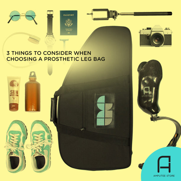 The Amputee Essentials Prosthetic Leg Bag makes organization simple and fits travel essentials.