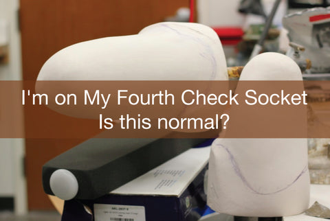 How many check sockets are normal when first getting a new prosthetic leg.