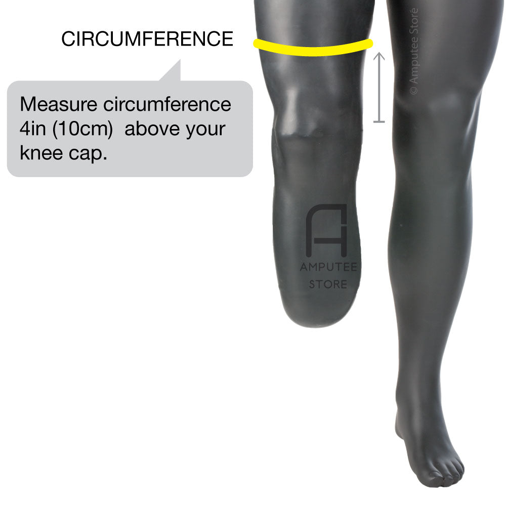 How to measure for a Syncor amputee knee sleeve.