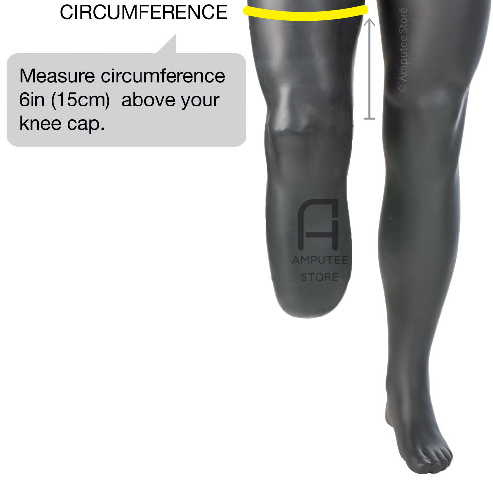 How to measure for an Ossur Below Knee prosthetic sleeve.