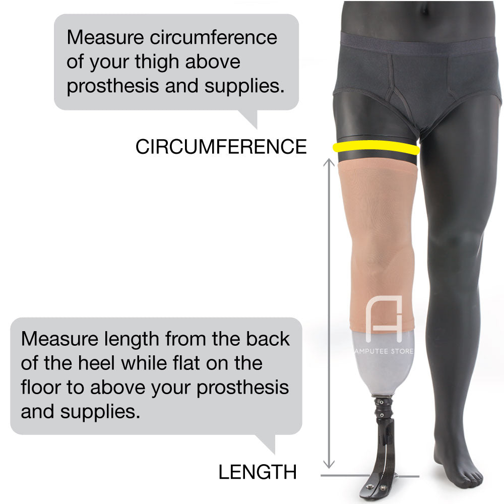 Dry Pro waterproof prosthetic cover protects your leg from water damage when you shower or jump in the pool.