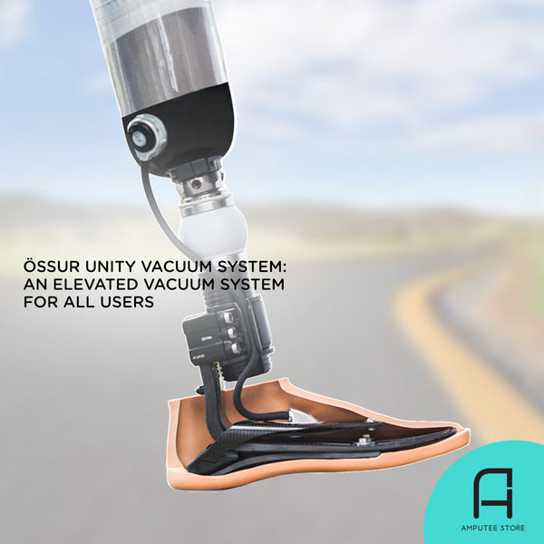The Össur Unity Vacuum System is an elevated vacuum system that can accommodate all types of prosthetic users.