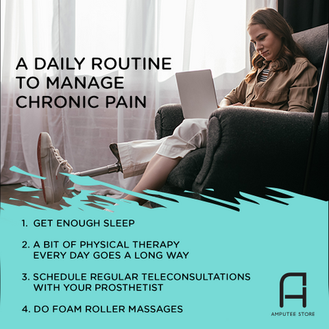 Sample daily routine to manage chronic pain.