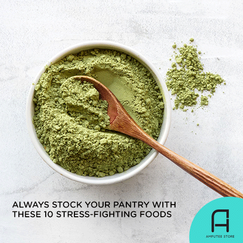 10 stress-fighting foods you should always have in your pantry.