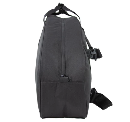 The Amputee Essentials Prosthetic Leg Bag can be carried as a duffel bag.