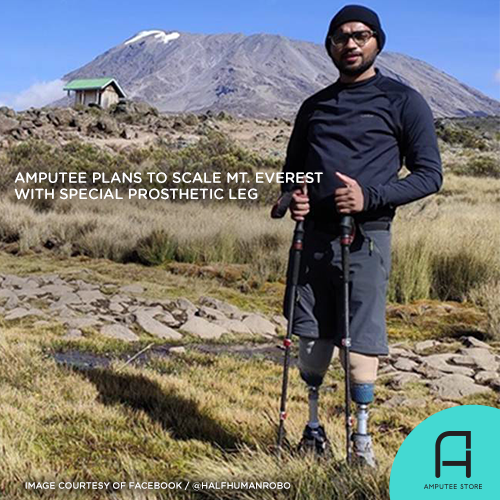 Chitrasen Sahu is currently preparing to scale Mount Everest with India's first indigenous carbon fiber foot.
