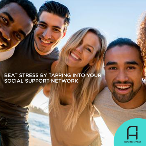 Tap into your social support network to beat stress.