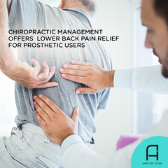 Chiropractic intervention can help prosthetic limb users manage their lower back pain.