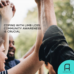 Community awareness is crucial for amputees coping with limb loss.