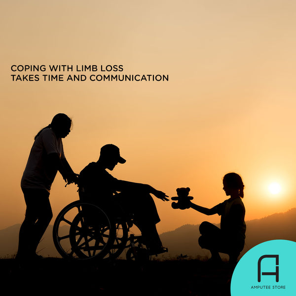 It takes time and open communication to cope with limb loss.