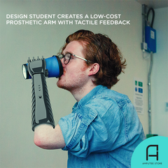 Design student Lorenzo Spreafico creates a low-cost prosthetic arm with tactile feedback.
