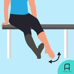 Dorsiflexion and plantarflexion exercise for new lower-limb amputees.
