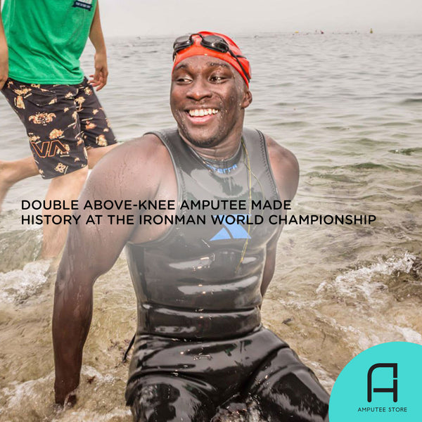 Roderick Sewell is the first double above-knee (AK) amputee to complete the Ironman World Championship.