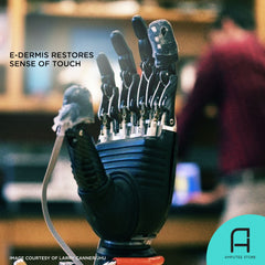 "Researchers at Johns Hopkins University sought to restore the sense of touch to prosthetic users by testing and developing an ""e-dermis."""