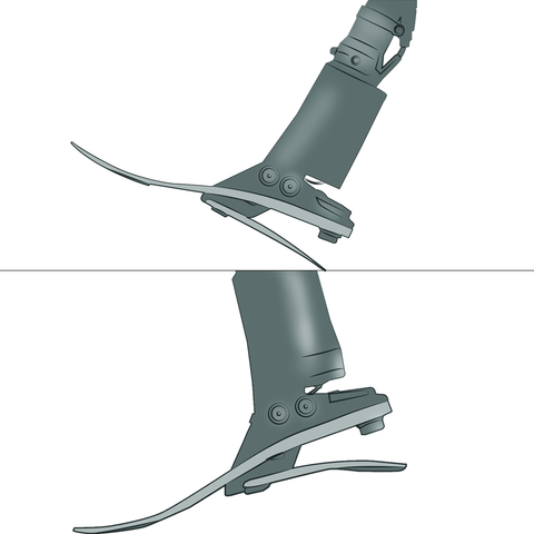 Elan uses microprocessor-controlled hydraulic technology to mimic a natural ankle.