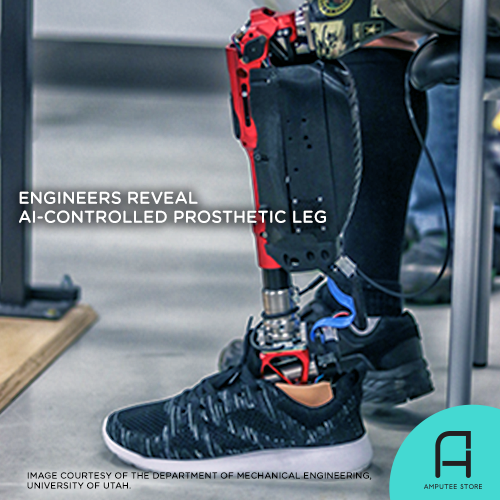 Engineers from the University of Utah reveal an AI-controlled prosthetic leg.
