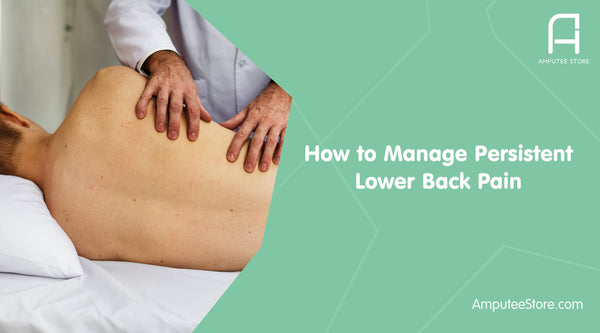Persistent lower back pain can be managed with a maintained prosthesis and physical therapy.