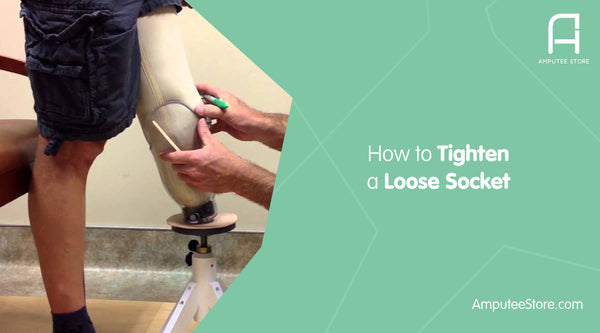 You can tighten a loose prosthetic socket on your own with prosthetic socks, gel pads, and thicker gel liners