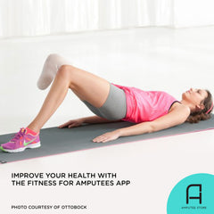 The Fitness For Amputees app helps unilateral below-the-knee amputees workout and keep fit.