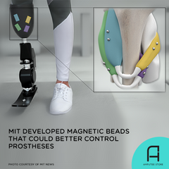 MIT researchers developed magnetic beads that could better control prosthetic limbs.