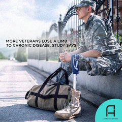 Chronic disease, not conflict, is the leading cause of amputations among veterans.