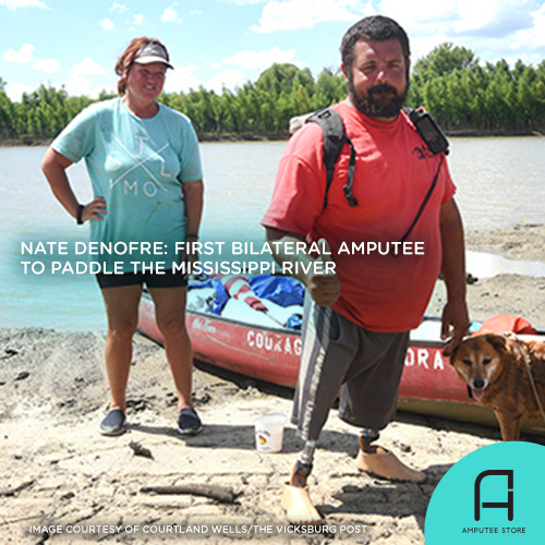 Nate Denofre is the first bilateral amputee to paddle the Mississippi River.