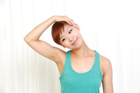 Stretching your neck can help relieve tension and prevent text neck.