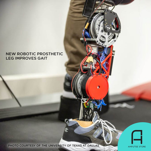 A prototype of a new robotic prosthetic leg improves gait.