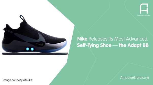 Nike's self tying shoe can help those with an arm amputation.