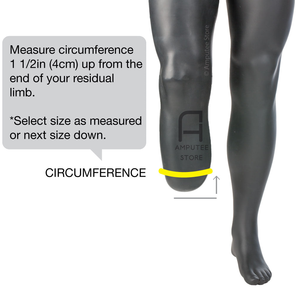 Ossur Iceross Comfort Prosthetic Liner sizing instructions.