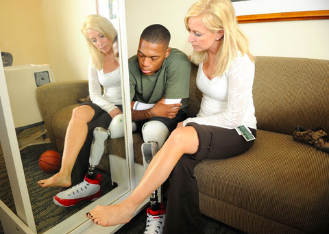 Mirror therapy can help manage phantom limb pain.