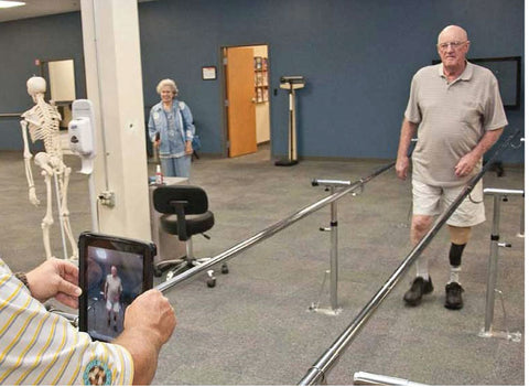Ask your prosthetist for a gait evaluation and makeover.