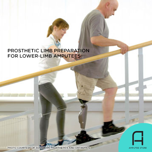 Pre-prosthetic limb exercises for lower-limb amputees.