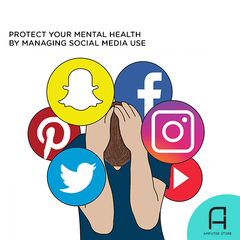 Manage your social media usage to protect your mental health.