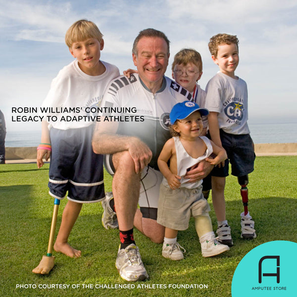 Robin Williams' continues to support challenged athletes with Robin Williams endowment fund.
