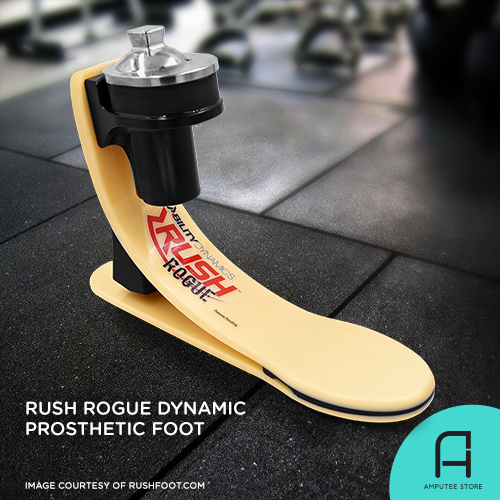 Rush Rogue prosthetic foot is designed to provide the most realistic and dynamic foot and ankle motion on any terrain.