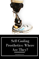 Prosthetic sockets that have the ability to cool themselves.