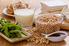 Soy protein helps in wound healing.