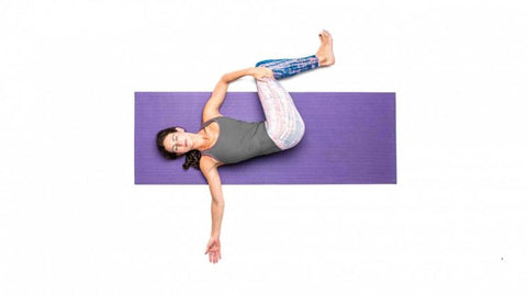 The spinal twist help ensure a healthy spine and a strong lower back.