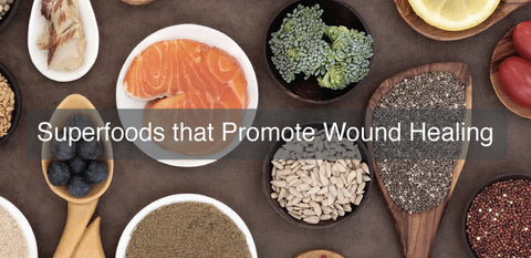 Superfoods to promote wound healing for amputees.